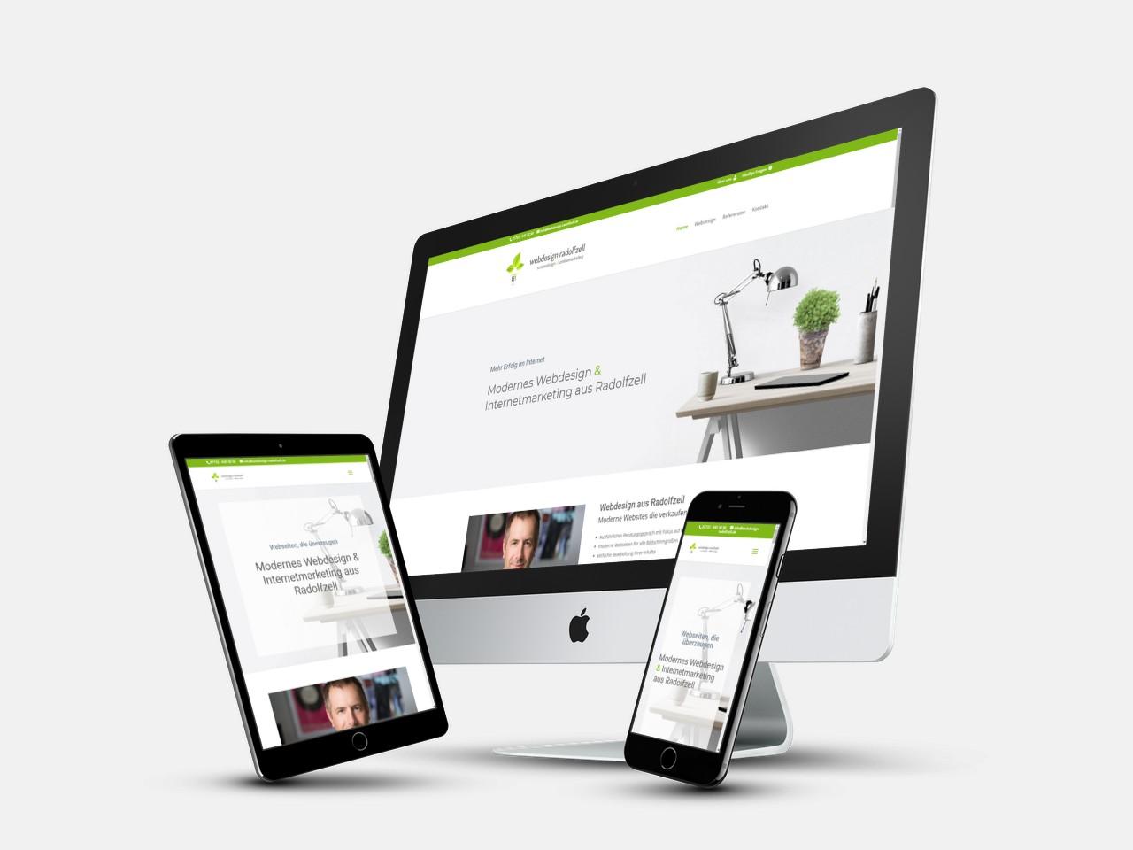 Optimierte Webseite für Desktop, Tablet & Handy