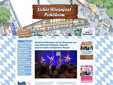 Webdesign Referenz Licher Wiesnfest Pohlheim