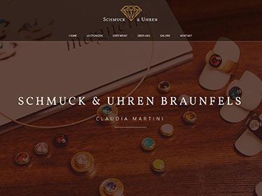 Webdesign Referenz - Schmuckgeschäft Braunfels